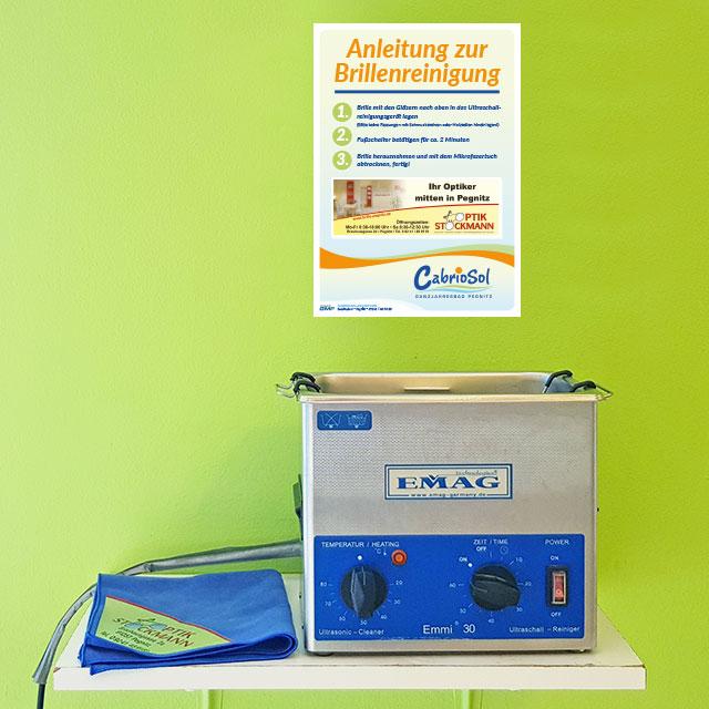 Ultraschallreinigungsgerät für Brillenreinigung